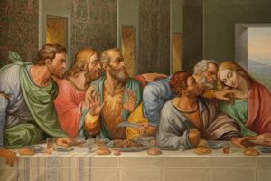 Detail_of_the_Da_Vincis_The_Last_Supper_by_Giacomo_Raffaelli_Vienna