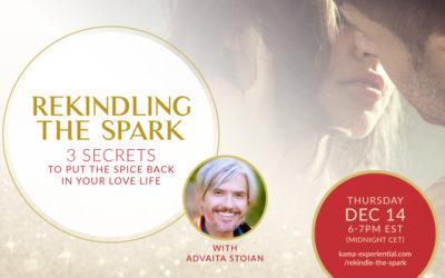 14 December 2017, Online – 'Rekindle the Spark' Free Live Webinar